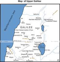 Upper Galilee - Basic Map (Hi-Res. Download) 1-Year License