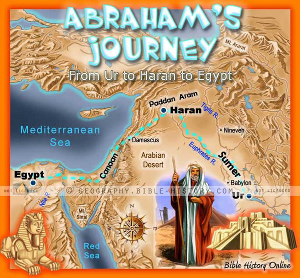 Abraham's Journey - Topo Color Map (Hi-Res. Download) 1-Year License
