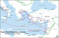 Paul's Third Missionary Journey - Basic Map (Hi-Res. Download) 1-Year License