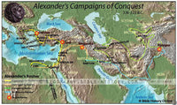 Alexander the Great's Battles - Color Map (Hi-Res. Download) 1-Year License