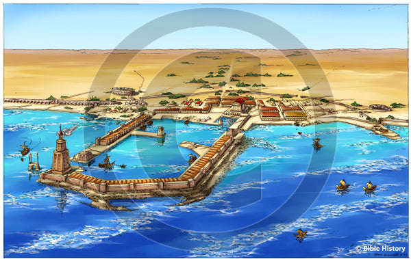 Ancient Caesarea - Bible Illustration (Hi-Res. Download) 1-Year License