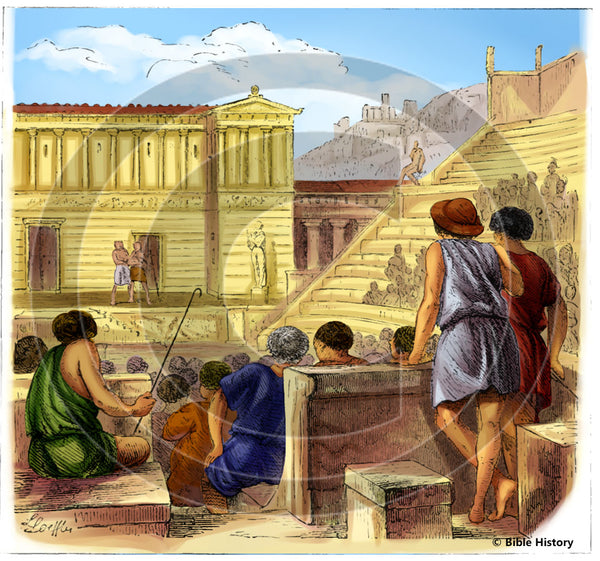 Greek Theater - Bible Illustration (Hi-Res. Download) 1-Year License