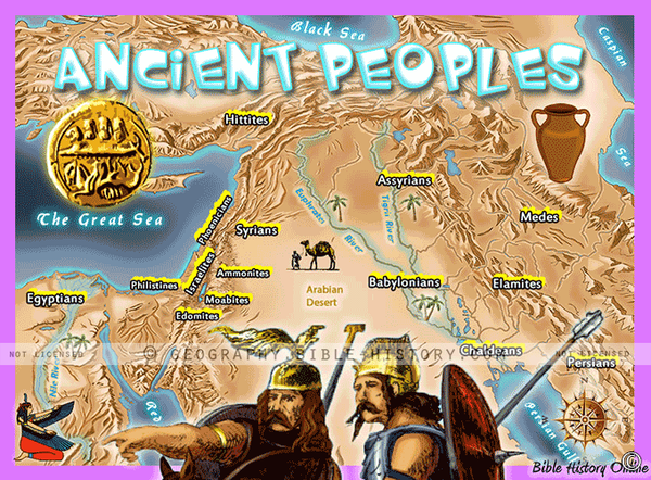 Ancient Peoples - Topo Color Map (Hi-Res. Download) 1-Year License
