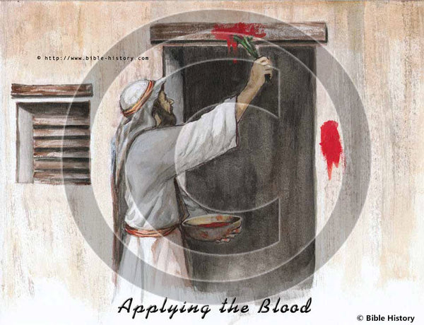 Applying the Blood - Bible Illustration (Hi-Res. Download) 1-Year License