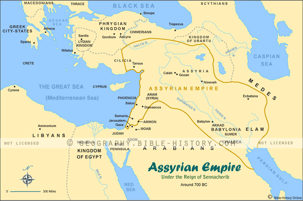 Map of The Assyrian Empire (Hi-Res. Download) 1-Year License