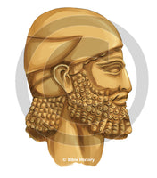 Assyrian Head - Bible Illustration (Hi-Res. Download) 1-Year License