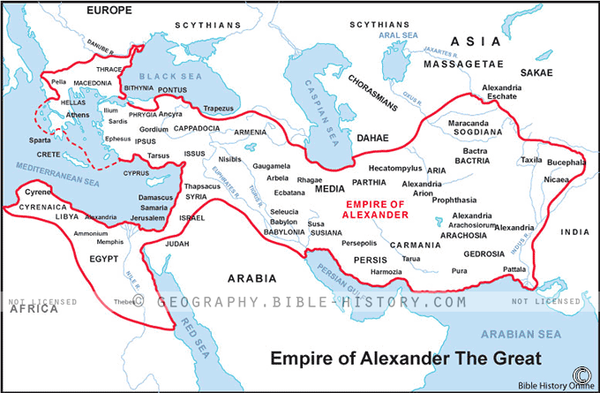 Alexander the Great's Empire - Basic Map (Hi-Res. Download) 1-Year License