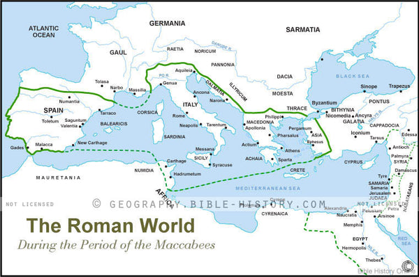 Roman World Maccabees - Basic Map (Hi-Res. Download) 1-Year License