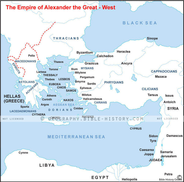 Alexander the Great's Empire on the West - Basic Map (Hi-Res. Download) 1-Year License