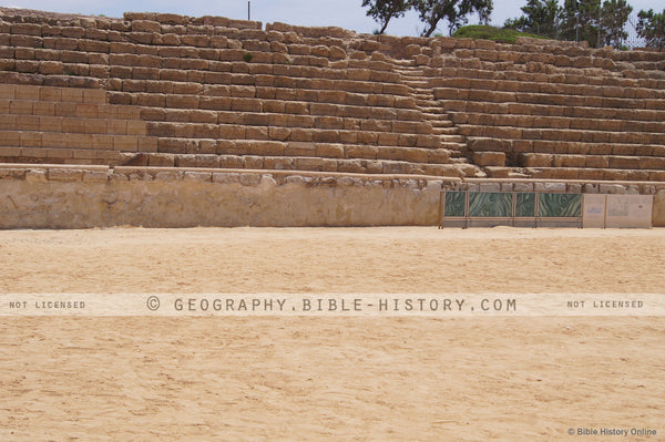 Hippodrome at Caesarea Grandstands - Color Photo (Hi-Res. Download) 1-Year License