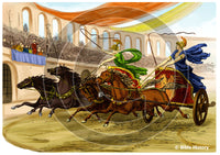 Chariot Races in Trajans Circus - Bible Illustration (Hi-Res. Download) 1-Year License