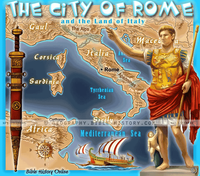 Land of Ancient Rome - Topo Color Map (Hi-Res. Download) 1-Year License