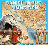 Daniel and the Lions Den - Topo Color Map (Hi-Res. Download) 1-Year License