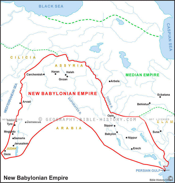 Daniel New Babylonian Empire - Basic Map (Hi-Res. Download) 1-Year License