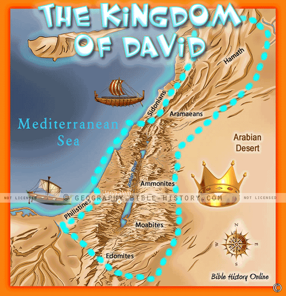David's Kingdom - Topo Color Map (Hi-Res. Download) 1-Year License