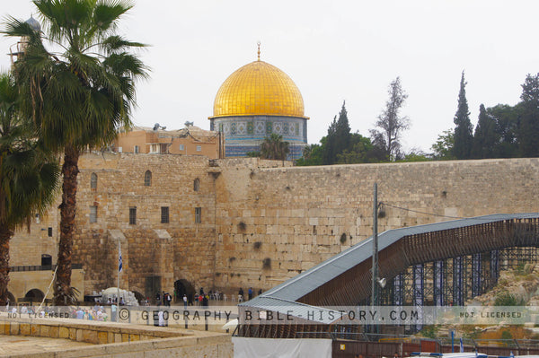 Dome and Western Wall - Color Photo (Hi-Res. Download) 1-Year License