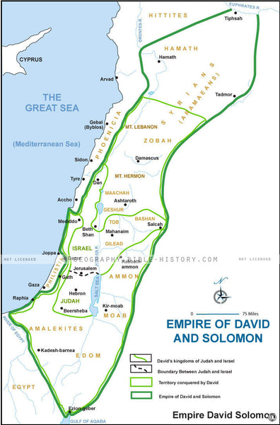Ecclesiastes Empire David Solomon - Basic Map (Hi-Res. Download) 1-Year License