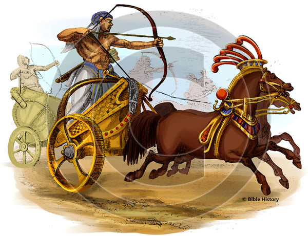 Egyptian War Chariot - Bible Illustration (Hi-Res. Download) 1-Year License