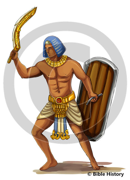 Egyptian Warrior - Bible Illustration (Hi-Res. Download) 1-Year License