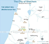 Genesis City of Shechem - Basic Map (Hi-Res. Download) 1-Year License