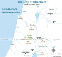 The City of Shechem - Basic Map (Hi-Res. Download) 1-Year License