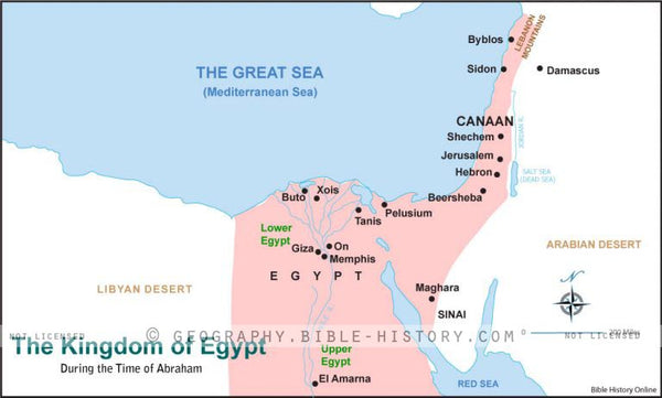 Genesis the Egyptian Kingdom - Basic Map (Hi-Res. Download) 1-Year License