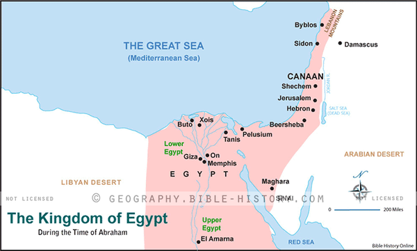 The Kingdom of Egypt - Basic Map (Hi-Res. Download) 1-Year License