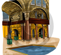 Herod's Palace - Bible Illustration (Hi-Res. Download) 1-Year License