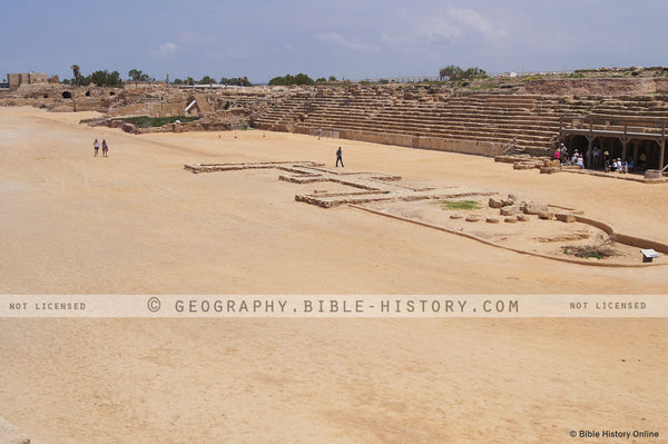 Hippodrome at Caesarea - Color Photo (Hi-Res. Download) 1-Year License