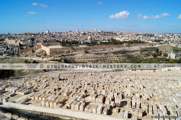 Jerusalem from the Mount of Olives (Hi-Res. Download) 1-Year License