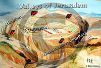 Jerusalem Valleys - Color Map (Hi-Res. Download) 1-Year License