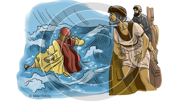 Jonah Thrown Overboard - Bible Illustration (Hi-Res. Download) 1-Year License