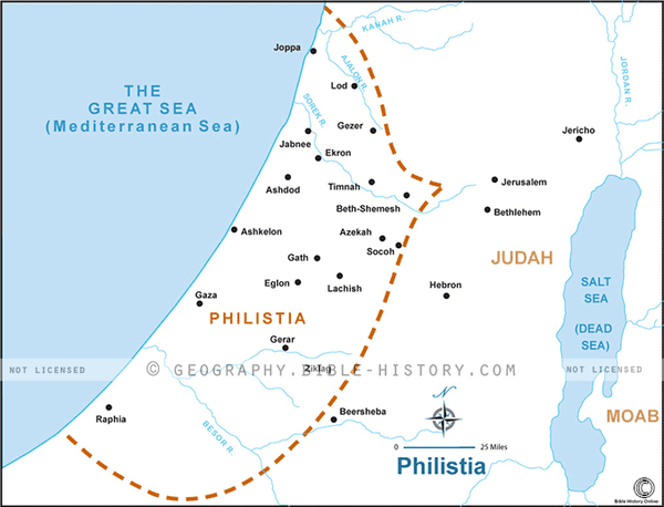 Philistia - Basic Map (Hi-Res. Download) 1-Year License