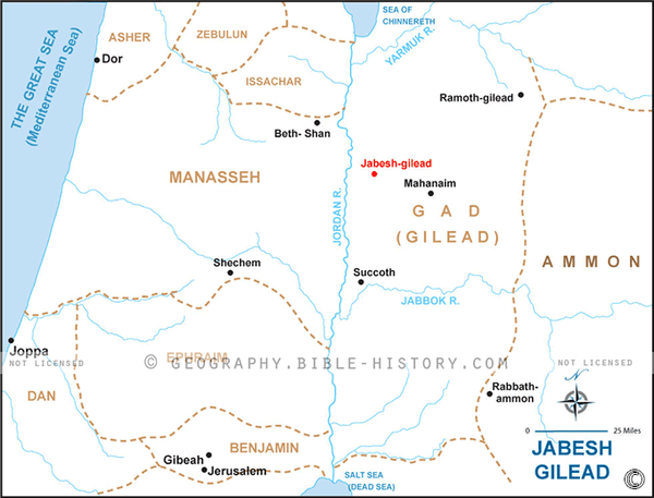 Jabesh Gilead - Basic Map (Hi-Res. Download) 1-Year License