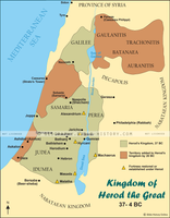 Herod the Great's Kingdom - Color Map (Hi-Res. Download) 1-Year License