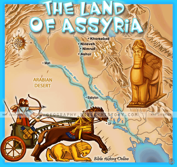 Land of Ancient Assyria - Topo Color Map (Hi-Res. Download) 1-Year License