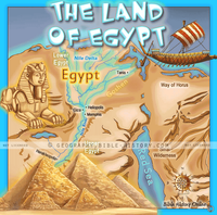 Land of Ancient Egypt - Topo Color Map (Hi-Res. Download) 1-Year License
