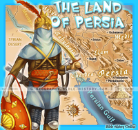 Land of Ancient Persia - Topo Color Map (Hi-Res. Download) 1-Year License