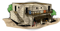 Large House in Ancient Israel - Bible Illustration (Hi-Res. Download) 1-Year License