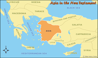 Asia in the New Testament - Color Map (Hi-Res. Download) 1-Year License