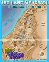 Land of Ancient Israel - Topo Color Map (Hi-Res. Download) 1-Year License