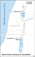 Jesus' Final Journey to Jerusalem - Basic Map (Hi-Res. Download) 1-Year License