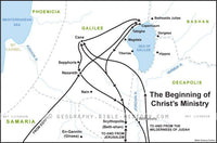 Matthew Beginning of Jesus Ministry - Basic Map (Hi-Res. Download) 1-Year License