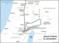 Matthew Jesus Comes to Jerusalem - Basic Map (Hi-Res. Download) 1-Year License