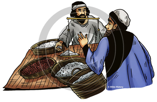 Merchant doing Business - Bible Illustration (Hi-Res. Download) 1-Year License