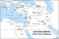 Assyrian Empire at the Time of Nahum - Basic Map (Hi-Res. Download) 1-Year License