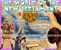 New Testament World - Topo Color Map (Hi-Res. Download) 1-Year License