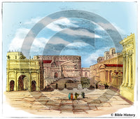 Roman Forum Reconstruction - Bible Illustration (Hi-Res. Download) 1-Year License