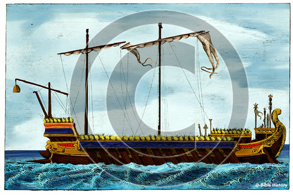 Roman War Vessel - Bible Illustration (Hi-Res. Download) 1-Year License