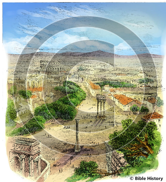 Ruins of Ancient Rome Overlook - Bible Illustration (Hi-Res. Download) 1-Year License